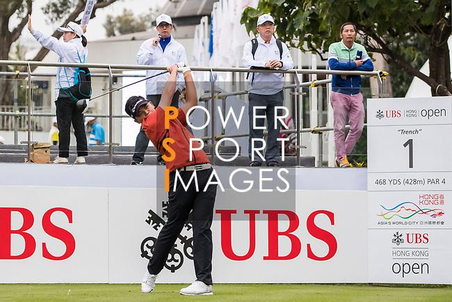 Chien-Yao Hung of Taiwan tees off during the day four of UBS Hong Kong Open 2017 at the Hong Kong Golf Club on 26 November 2017, in Hong Kong, Hong Kong. Photo by Yu Chun Christopher Wong / Power Sport Images