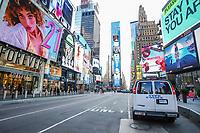 NOVA YORK, EUA 18.03.2020 - CORONAVIRUS-EUA - Policia de Nova York NYPD é vista monitorando a Times Square durante a Pandemia de Corona Virus COVID-19 em Nova York . (Foto: Vanessa Carvalho/Brazil Photo Press/Folhapress)