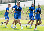 St Johnstone Training….29.06.19   McDiarmid Park, Perth<br />Callu Hendry pictured with Ali McCann, Jason Kerr, Chris Kane and Richatd foster during training<br />Picture by Graeme Hart.<br />Copyright Perthshire Picture Agency<br />Tel: 01738 623350  Mobile: 07990 594431