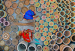Thousands of freshly handwoven baskets dry in the sun before being exported around the world.  Workers weave the baskets from Kans grass, typically making six to eight each day of various shapes and sizes.<br /> <br /> Once finished they are left out in the sunlight for two or three days so that the moisture from the grass evaporates.  They are then shipped from Bogra, Bangladesh, to the likes of USA, Australia, Britain and elsewhere in Europe, usually selling for £10 to £20.  SEE OUR COPY FOR DETAILS.<br /> <br /> Please byline: Abdul Momin/Solent News<br /> <br /> © Abdul Momin/Solent News & Photo Agency<br /> UK +44 (0) 2380 458800