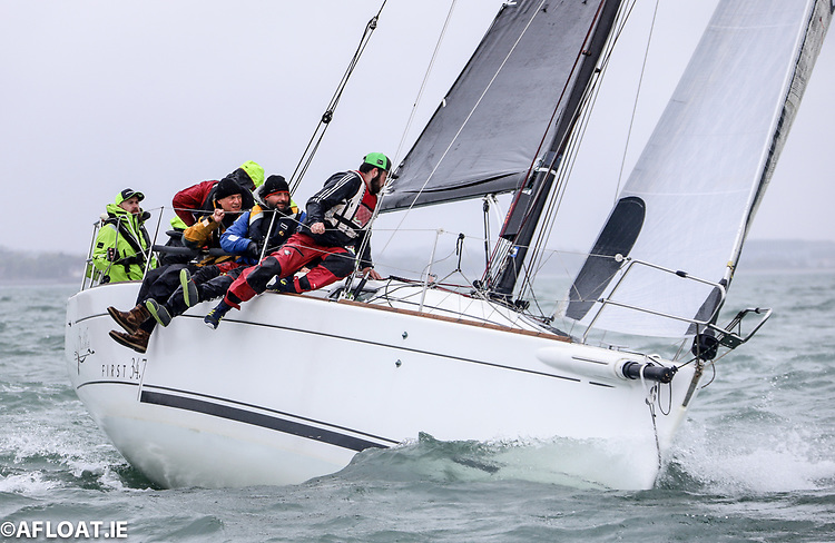 Leslie Parnell's Black Velvet First 34.7 from the Royal Irish Yacht Club is entered for Race Ten of the ISORA series from Dun Laoghaire Harbour