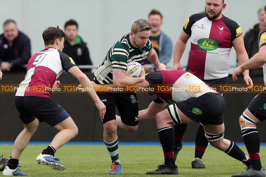 Action during Hendon RFC vs Cranbrook RFC, RFU Junior Vase Rugby Union at Allianz Park on 14th March 2020