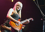 """Orianthi {who appears in Michael Jackson's """"This is It"""" } performs live at The Paul Reed Smith's 20th Anniversary Concert held at The Grove of  Anaheim,in Anaheim,California on January 21,2005. Copyright 2005 by DVS / RockinExposures"""