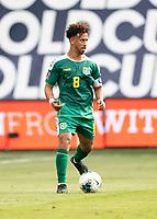 KANSAS CITY, KS - JUNE 26: Samuel Cox #8 during a game between Guyana and Trinidad