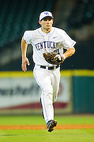 First baseman Luke Maile #21 of the Kentucky Wildcats charges towards home plate against the Houston Cougars at Minute Maid Park on March 5, 2011 in Houston, Texas.  Photo by Brian Westerholt / Four Seam Images