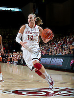 STANFORD CA-NOVEMBER 28, 2010: Kayla Pedersen during the Stanford 93-78 win over Texas in Stanford, California.