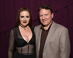 """Jennifer Simard and brother backstage after """"Stigma"""" on September 9, 2018 at the Green Room 42 in New York City."""