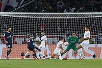 28th September 2021, Parc des Princes, Paris, France: Champions league football, Paris-Saint-Germain versus Manchester City:   Idrissa Gueye (PSG) shoots and scores for 1-0