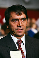 File Photo, circa 1985, Francois Gendron at a Parti Quebecois event.<br /> <br /> After the April, 7 2014 provincial elction ;  Gendron became the  longest elected member of Quebec National Assembly.<br /> <br /> File Photo : Pierre Roussel