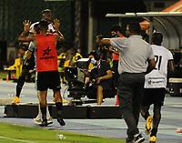 BARRANCABERMEJA - COLOMBIA, 03-02-2021: Jugadores de Aguilas Doradas Rionegro, celebran el gol anotado a Alianza Petrolera durante partido Alianza Petrolera y Aguilas Doradas Rionegro de la fecha 4 por la Liga BetPlay DIMAYOR I 2021 en el estadio Daniel Villa Zapata en la ciudad de Barrancabermeja. / Players of Aguilas Doradas Rionegro, celebrate a scored goal to Alianza Petrolera during a match between Alianza Petrolera and Aguilas Doradas Rionegro of the 4th date for the BetPlay DIMAYOR I 2021 League at the Daniel Villa Zapata stadium in Barrancabermeja city. Photo: VizzorImage / Jose D. Martinez / Cont.