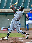 Gary Southshore Railcats DH Toddric Johnson (9) in action during the American Association of Independant Professional Baseball game between the Gary Southshore Railcats and the Fort Worth Cats at the historic LaGrave Baseball Field in Fort Worth, Tx. Gary Southshore defeats Fort Worth 7 to 3.
