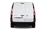 Straight rear view of 2020 Nissan NV250 Visia 5 Door Car Van Rear View  stock images