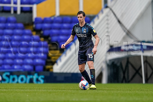 20th February 2021; St Andrews Stadium, Coventry, West Midlands, England; English Football League Championship Football, Coventry City v Brentford; Dominic Hyam of Coventry City on the ball in defence