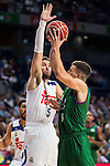 Real Madrid's player Rudy Fernandez and Unicaja Malaga's player Nemanja Nedovic during match of Liga Endesa at Barclaycard Center in Madrid. September 30, Spain. 2016. (ALTERPHOTOS/BorjaB.Hojas)