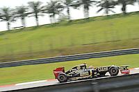 French Romain Grosjean on Lotus E20.24/03/2012 Grand Prix Malesia, Sepang , Essais..Foto Insidefoto  /Bernard Asset / Panoramic.ITALY ONLY..