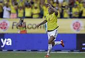 Edwin Cardona celebra tras anotar el segundo gol contra Peru  en el Estadio Metropolitano Roberto Melendez de Barranquilla el  8 de octubre de 2015.<br /> <br /> Foto: Archivolatino<br /> <br /> COPYRIGHT: Archivolatino<br /> Prohibido su uso sin autorización.