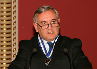 May 2003, Montreal, Quebec, Canada<br /> <br /> Jean-Pierre Raffarin , Prime Minister of France, in Quebec City during  Raffarin visit to Canada in May 2003<br /> <br /> Mandatory Credit: Photo byRaffi Kirdi- Images Distribution. (©) Copyright 2003 by Raffi Kirdi<br /> <br /> NOTE : FRANCE OUT / More photos available on request