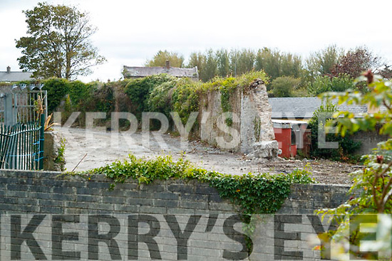 The old wall of Ballymullen Jail
