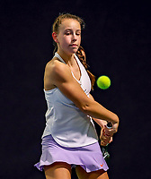 Hilversum, Netherlands, December 3, 2017, Winter Youth Circuit Masters, 12,14,and 16 years, Laurèl Polman (NED)<br /> Photo: Tennisimages/Henk Koster