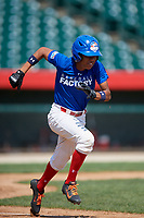Yeison Lemos (2) during the Dominican Prospect League Elite Underclass International Series, powered by Baseball Factory, on August 31, 2017 at Silver Cross Field in Joliet, Illinois.  (Mike Janes/Four Seam Images)