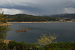 Bear River Lake with thunderstorm