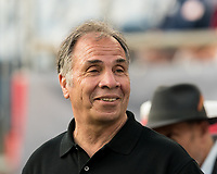 FOXBOROUGH, MA - JUNE 26: Bruce Arena during a game between Philadelphia Union and New England Revolution at Gillette Stadium on June 26, 2019 in Foxborough, Massachusetts.
