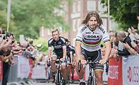 "World Champion Peter Sagan (SVK/Bora-Hansgrohe)<br /> <br /> ""Le Grand Départ"" <br /> 104th Tour de France 2017 <br /> Team Presentation in Düsseldorf/Germany"