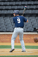 Joey Bart (9) of the Georgia Tech Yellow Jackets at bat against the Wake Forest Demon Deacons at David F. Couch Ballpark on March 26, 2017 in  Winston-Salem, North Carolina.  The Demon Deacons defeated the Yellow Jackets 8-4.  (Brian Westerholt/Four Seam Images)