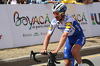 TUNJA - COLOMBIA, 13-02-2020: Julian Alaphilippe (FRA), DECEUNINCK - QUICK STEP durante la tercera etapa del Tour Colombia 2.1 2020 con un recorrido de 177,7 km que se corrió entre Paipa y Sogamoso, Boyacá. / Julian Alaphilippe (FRA), DECEUNINCK - QUICK STEP during the third stage of 177,7 km as part of Tour Colombia 2.1 2020 that ran between Paipa and Sogamoso, Boyaca.  Photo: VizzorImage / Darlin Bejarano / Cont