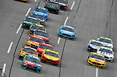 #18: Kyle Busch, Joe Gibbs Racing, Toyota Camry M&M's Hazelnut, #22: Joey Logano, Team Penske, Ford Mustang Shell Pennzoil