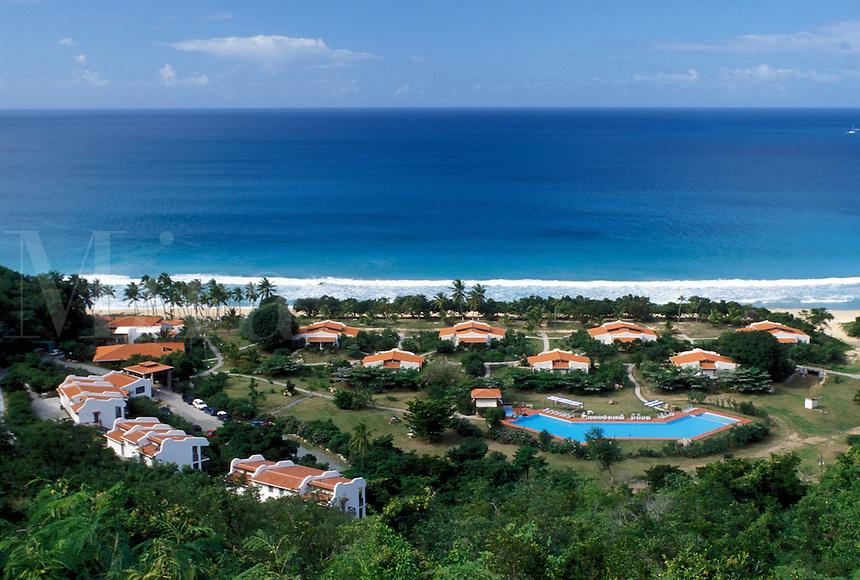 resort, Caribbean, Tortola, British Virgin Islands, BVI, Scenic view of Lambert Beach and Resort on the island of Tortola on the Caribbean Sea.