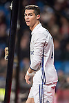 Cristiano Ronaldo of Real Madrid looks on during their Copa del Rey 2016-17 Quarter-final match between Real Madrid and Celta de Vigo at the Santiago Bernabéu Stadium on 18 January 2017 in Madrid, Spain. Photo by Diego Gonzalez Souto / Power Sport Images
