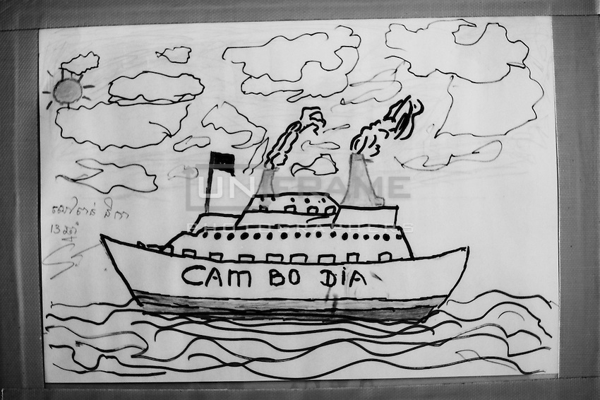 One of the many drawings made by the children hospitalized.