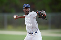 Donye Evans (16) during the WWBA World Championship at the Roger Dean Complex on October 11, 2019 in Jupiter, Florida.  Donye Evans attends Redan High School in Decatur, GA and is committed to Vanderbilt.  (Mike Janes/Four Seam Images)