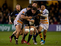 Bath Rugby's Elliott Stooke in action during todays match<br /> <br /> Photographer Bob Bradford/CameraSport<br /> <br /> European Rugby Heineken Champions Cup Pool 1 - Bath Rugby v Wasps - Saturday 12th January 2019 - The Recreation Ground - Bath<br /> <br /> World Copyright © 2019 CameraSport. All rights reserved. 43 Linden Ave. Countesthorpe. Leicester. England. LE8 5PG - Tel: +44 (0) 116 277 4147 - admin@camerasport.com - www.camerasport.com