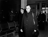 ARCHIVE -<br /> Monseigneur Maurice Roy,  Archeveque de Quebec,<br /> quitte le Quebec pour aller assister au<br /> Concile Vatican II  dui dure de 1962 à 1965.<br />  <br />  Date exacte inconnuee,<br /> <br /> <br /> <br /> Le pape Paul VI le crée cardinal lors du consistoire du 22 février 1965.  <br /> <br /> <br /> PHOTO :  AQP -  Photo Moderne<br /> <br /> NOTE : Ce negatif sera re-numeriser