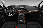 Stock photo of straight dashboard view of 2018 Audi Q5 Prestige 5 Door SUV