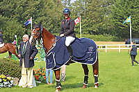 5th September 2021; Bicton Park, East Budleigh Salterton, Budleigh Salterton, United Kingdom: Bicton CCI 5* Equestrian Event; Gemma Tattersall riding Chilli Knight wins the main event