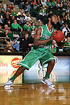 North Texas Mean Green forward Jacob Holmen (1) in action during the game between the Lehigh Mountain Hawks and the North Texas Mean Green at the Super Pit arena in Denton, Texas. Lehigh defeats UNT 90 to 75...