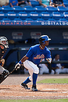 April 25 2010: Raul Reyes (17) of the St. Lucie Mets during a game vs. the Bradenton Marauders at Digital Domain Park in Port St. Lucie, Florida. St. Lucie, the Florida State League High-A affiliate of the New York Mets, won the game against Bradenton, affiliate of the Pittsburgh Pirates, by the score of 5-4  Photo By Scott Jontes/Four Seam Images