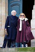 Claude Rich - ObsËques de Bernard DhÈran en l'Èglise Saint-Roch - 05/02/2013, Paris, France