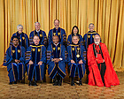 May 18, 2014; 2014 Notre Dame Commencement Honoree group photo.<br /> <br /> Photo by Matt Cashore/University of Notre Dame