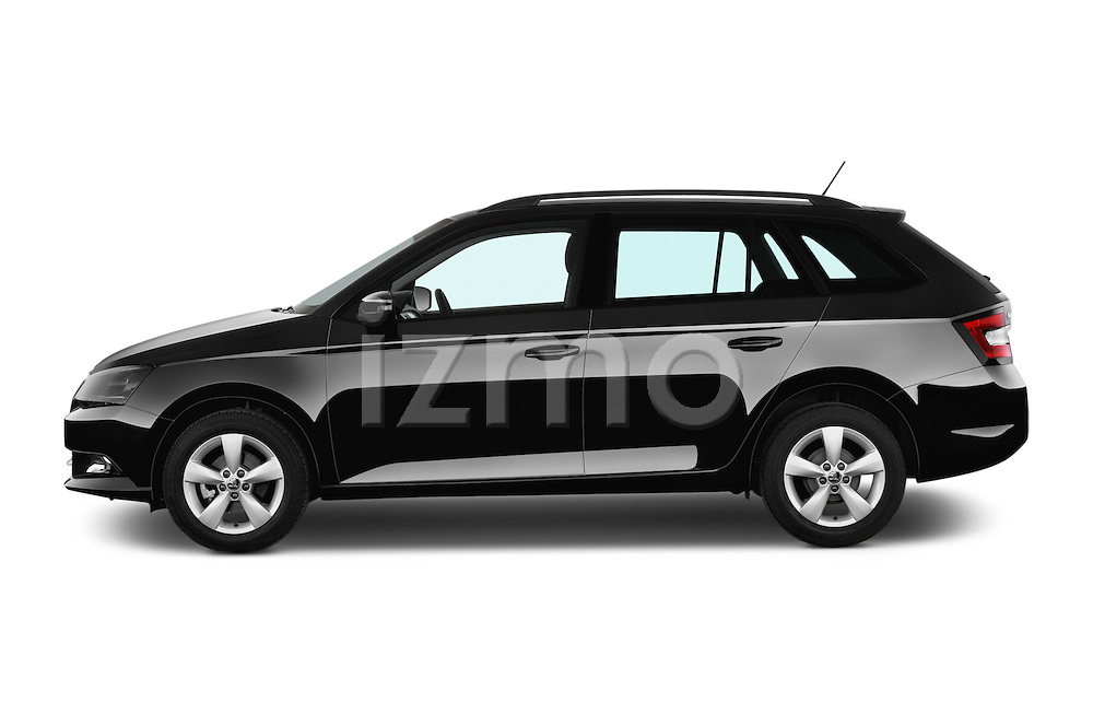 Car Driver side profile view of a 2015 Skoda Fabia Ambition 5 Door Wagon Side View