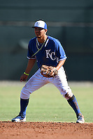 Kansas City Royals second baseman Jose Martinez (39) during an Instructional League game against the Cincinnati Reds on October 16, 2014 at Goodyear Training Facility in Goodyear, Arizona.  (Mike Janes/Four Seam Images)