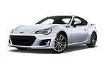 Stock pictures of low aggressive front three quarter view of a 2017 Subaru BRZ Sport Premium 2 Door Coupe