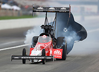 Aug 31, 2019; Clermont, IN, USA; NHRA top fuel driver Doug Kalitta during qualifying for the US Nationals at Lucas Oil Raceway. Mandatory Credit: Mark J. Rebilas-USA TODAY Sports