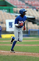 Eduardo Vaughan participates in the MLB International Showcase at Estadio Quisqeya on February 22-23, 2017 in Santo Domingo, Dominican Republic.