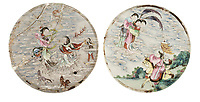 BNPS.co.uk (01202 558833)<br /> Pic: DominicWinter/BNPS<br /> <br /> A rare set of 18th century Chinese panels have sold for over £80,000 after sparking a bidding war - 160 times their estimate.<br /> <br /> The group of four porcelain panels which would have been incorporated into a dressing screen were initially tipped to fetch £500.<br /> <br /> But a surge of interest from Chinese collectors ahead of the sale prompted auctioneers Dominic Winter, of Cirencester, Gloucs, to start bidding on the day at £3,000.<br /> <br /> However, bids quickly rose to £20,000 and the hammer finally went down at £65,000, with extra fees taking the final sum paid by the Chinese buyer to £80,600.