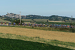 The peloton pass through the Po Valley during the 101st edition of Milan-Turin 2020 running 198km from Mesero to Stupinigi (Nichelino), Italy. 5th August 2020.<br /> Picture: LaPresse/Fabio Ferrari | Cyclefile<br /> <br /> All photos usage must carry mandatory copyright credit (© Cyclefile | LaPresse/Fabio Ferrari)