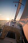Sailboat sunset beneteau 49 charleston sc